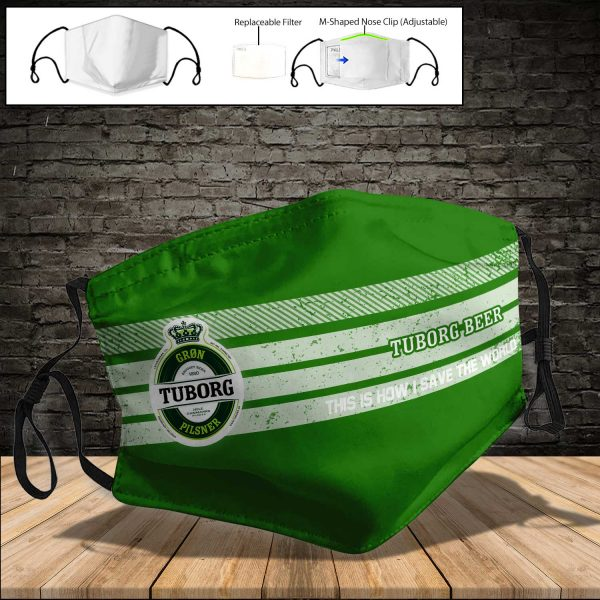 Tuborg Brewery PM 2.5 Air Pollution Masks Washable Reusable Face Mask F#5