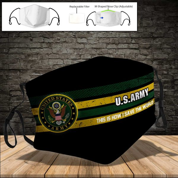 U.S. ARMY PM 2.5 Air Pollution Masks Washable Reusable Face Mask F#5