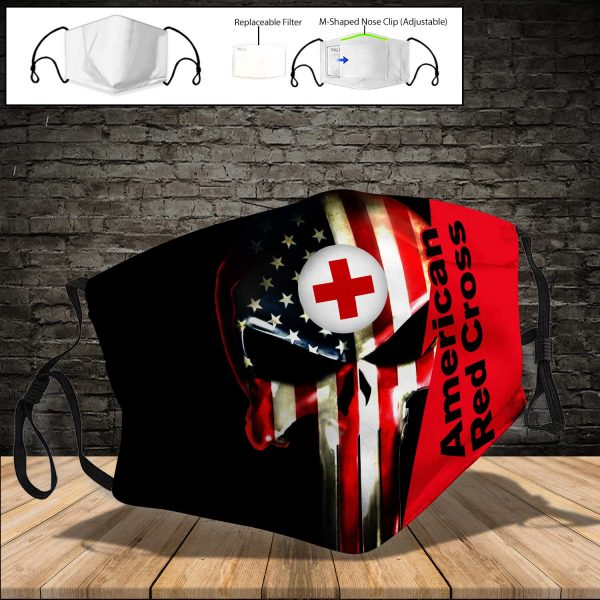 American Red Cross PM 2.5 Air Pollution Masks Washable Reusable Face Mask F#1