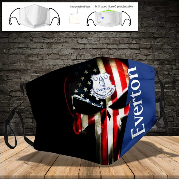 Everton F.C PM 2.5 Air Pollution Masks Washable Reusable Face Mask F#1