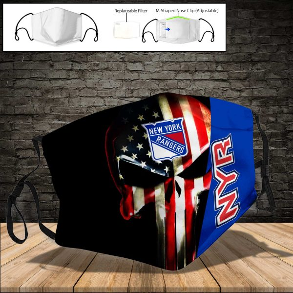 New York Rangers PM 2.5 Air Pollution Masks Washable Reusable Face Mask F#1