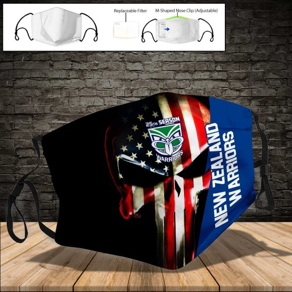 New Zealand Warriors PM 2.5 Air Pollution Masks Washable Reusable Face Mask F#1