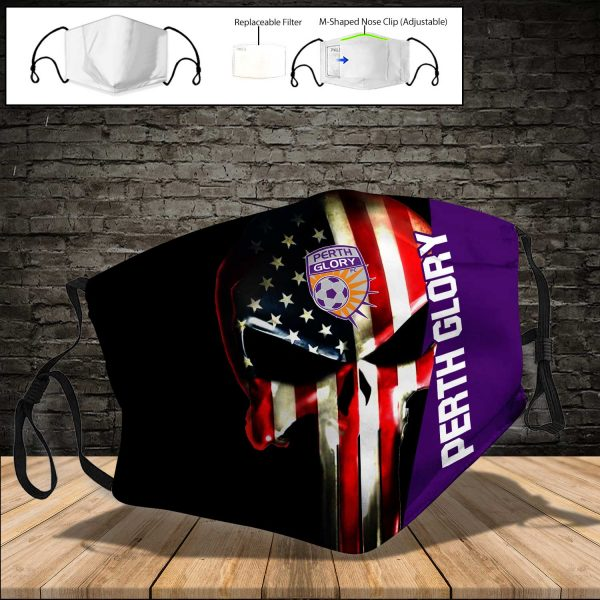Perth Glory PM 2.5 Air Pollution Masks Washable Reusable Face Mask F#1