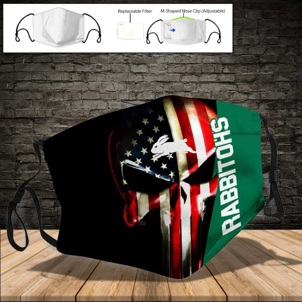 South Sydney Rabbitohs PM 2.5 Air Pollution Masks Washable Reusable Face Mask F#1