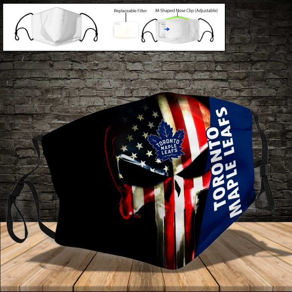 Toronto Maple Leafs PM 2.5 Air Pollution Masks Washable Reusable Face Mask F#1
