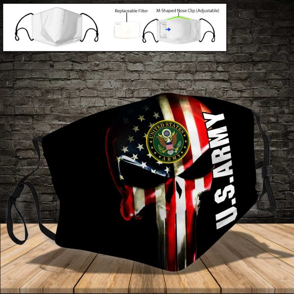 U.S. ARMY PM 2.5 Air Pollution Masks Washable Reusable Face Mask F#1