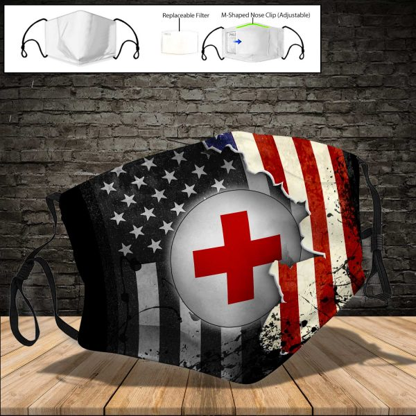 American Red Cross PM 2.5 Air Pollution Masks Washable Reusable Face Mask F#2