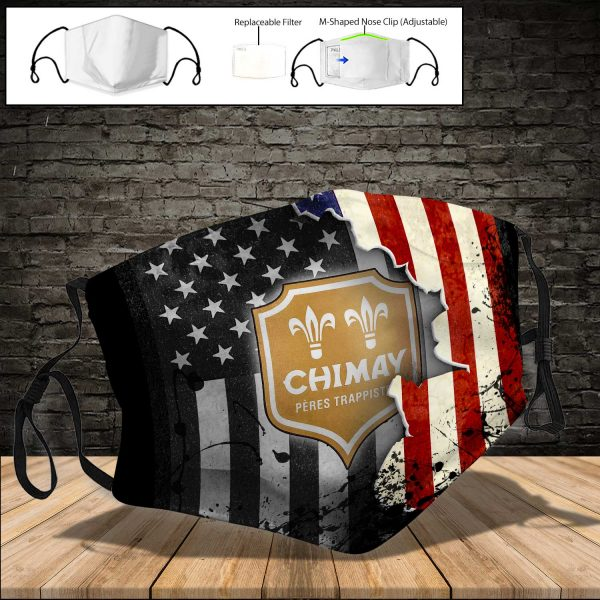 Chimay Brewery PM 2.5 Air Pollution Masks Washable Reusable Face Mask F#2