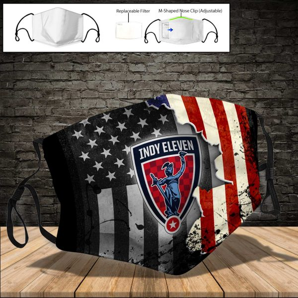 Indy Eleven PM 2.5 Air Pollution Masks Washable Reusable Face Mask F#2