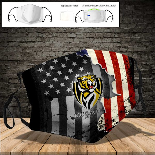 Richmond Tigers PM 2.5 Air Pollution Masks Washable Reusable Face Mask F#2