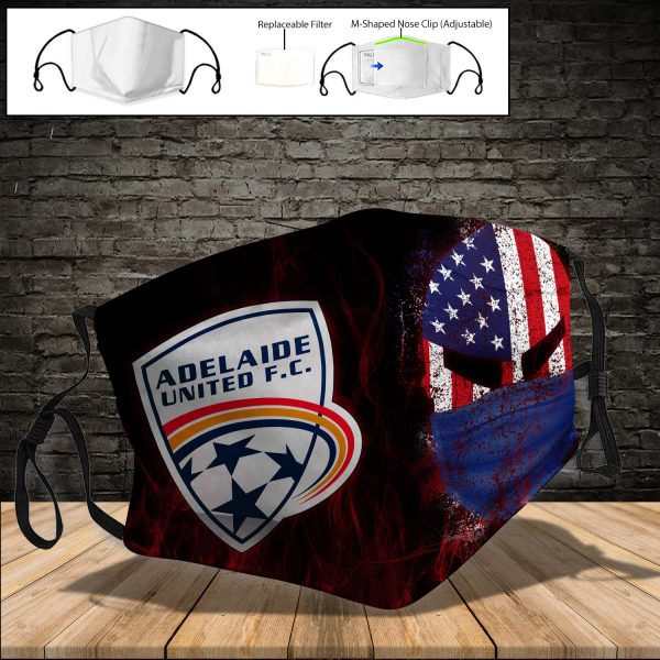 Adelaide United PM 2.5 Air Pollution Masks Washable Reusable Face Mask F#3