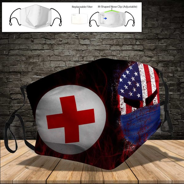 American Red Cross PM 2.5 Air Pollution Masks Washable Reusable Face Mask F#3
