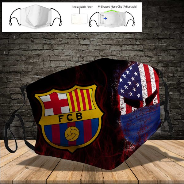 FC Barcelona PM 2.5 Air Pollution Masks Washable Reusable Face Mask F#3