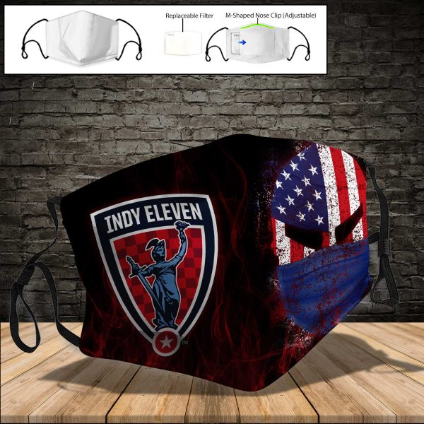 Indy Eleven PM 2.5 Air Pollution Masks Washable Reusable Face Mask F#3