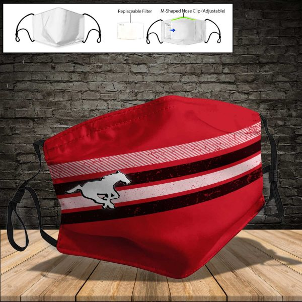 Calgary Stampeders PM 2.5 Air Pollution Masks Washable Reusable Face Mask F#4