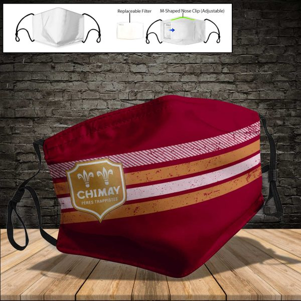 Chimay Brewery PM 2.5 Air Pollution Masks Washable Reusable Face Mask F#4
