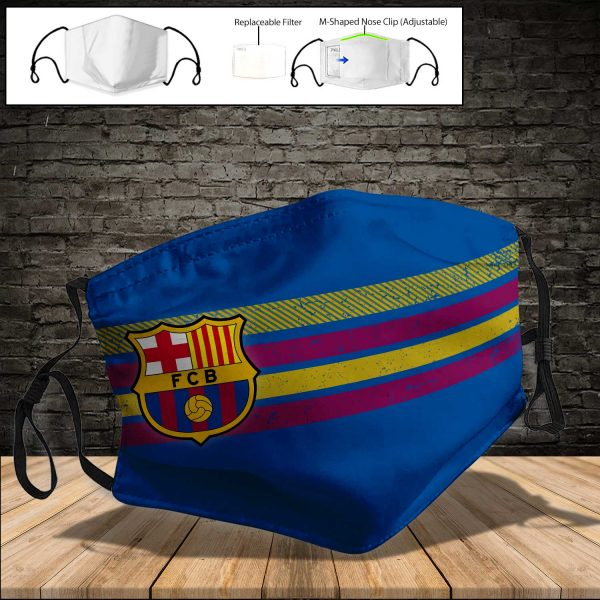 FC Barcelona PM 2.5 Air Pollution Masks Washable Reusable Face Mask F#4