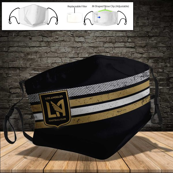 MLS - Los Angeles FC PM 2.5 Air Pollution Masks Washable Reusable Face Mask F#4