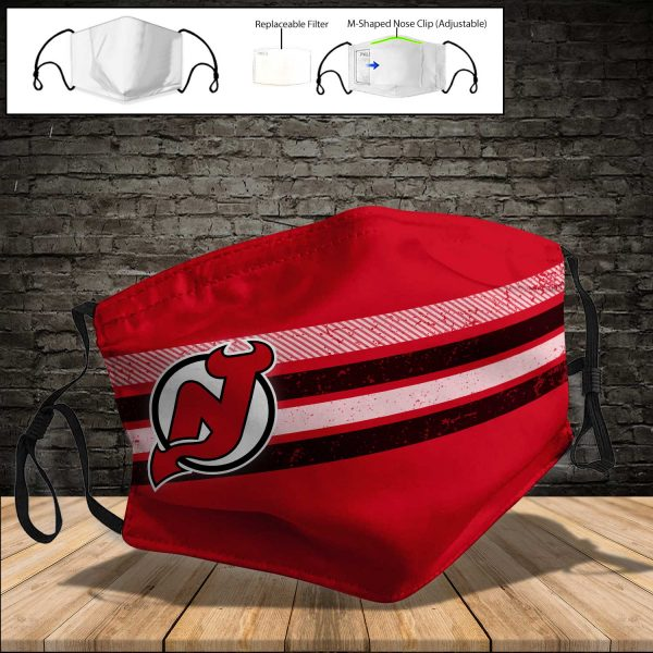 New Jersey Devils PM 2.5 Air Pollution Masks Washable Reusable Face Mask F#4