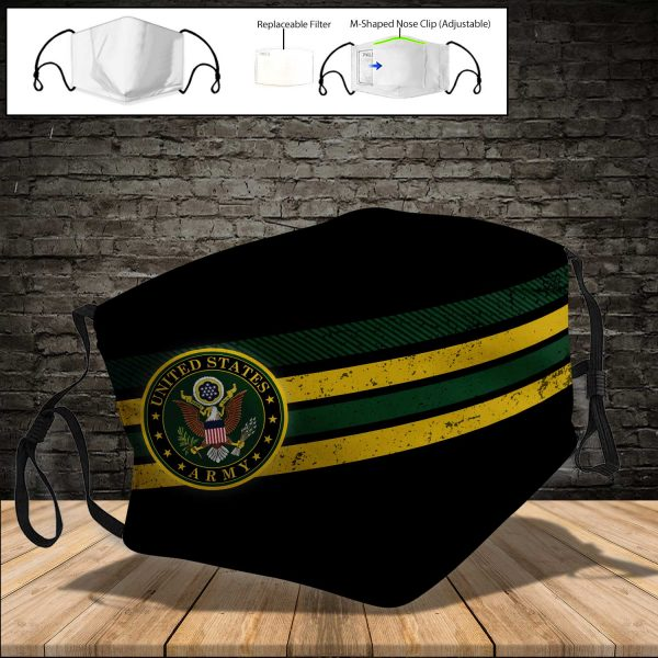 U.S. ARMY PM 2.5 Air Pollution Masks Washable Reusable Face Mask F#4