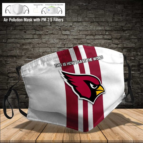 NFL - Arizona Cardinals #8 Save The World (Print Fabric, Reusable Dust Mask, Face Cover with Filter Activated Carbon PM 2.5)