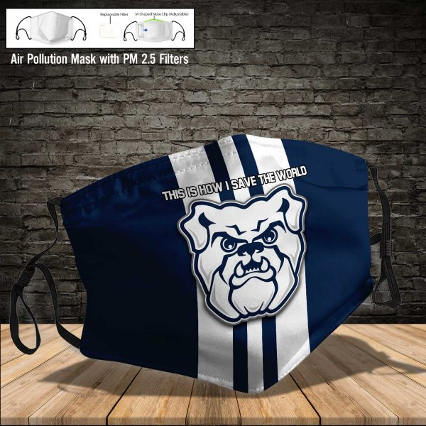NCAA - Butler Bulldogs #8 Save The World Print Fabric, Reusable Dust Mask, Face Cover with Filter Activated Carbon PM 2.5