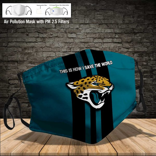 NFL - Jacksonville Jaguars #8 Save The World (Print Fabric, Reusable Dust Mask, Face Cover with Filter Activated Carbon PM 2.5)