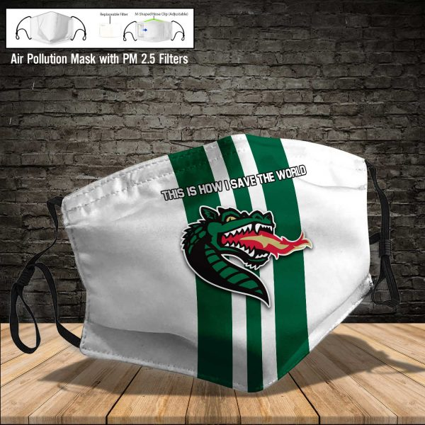 NCAA - Uab Blazers #8 Save The World Print Fabric, Reusable Dust Mask, Face Cover with Filter Activated Carbon PM 2.5