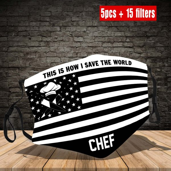 GGSL2473 Chef Face Mask